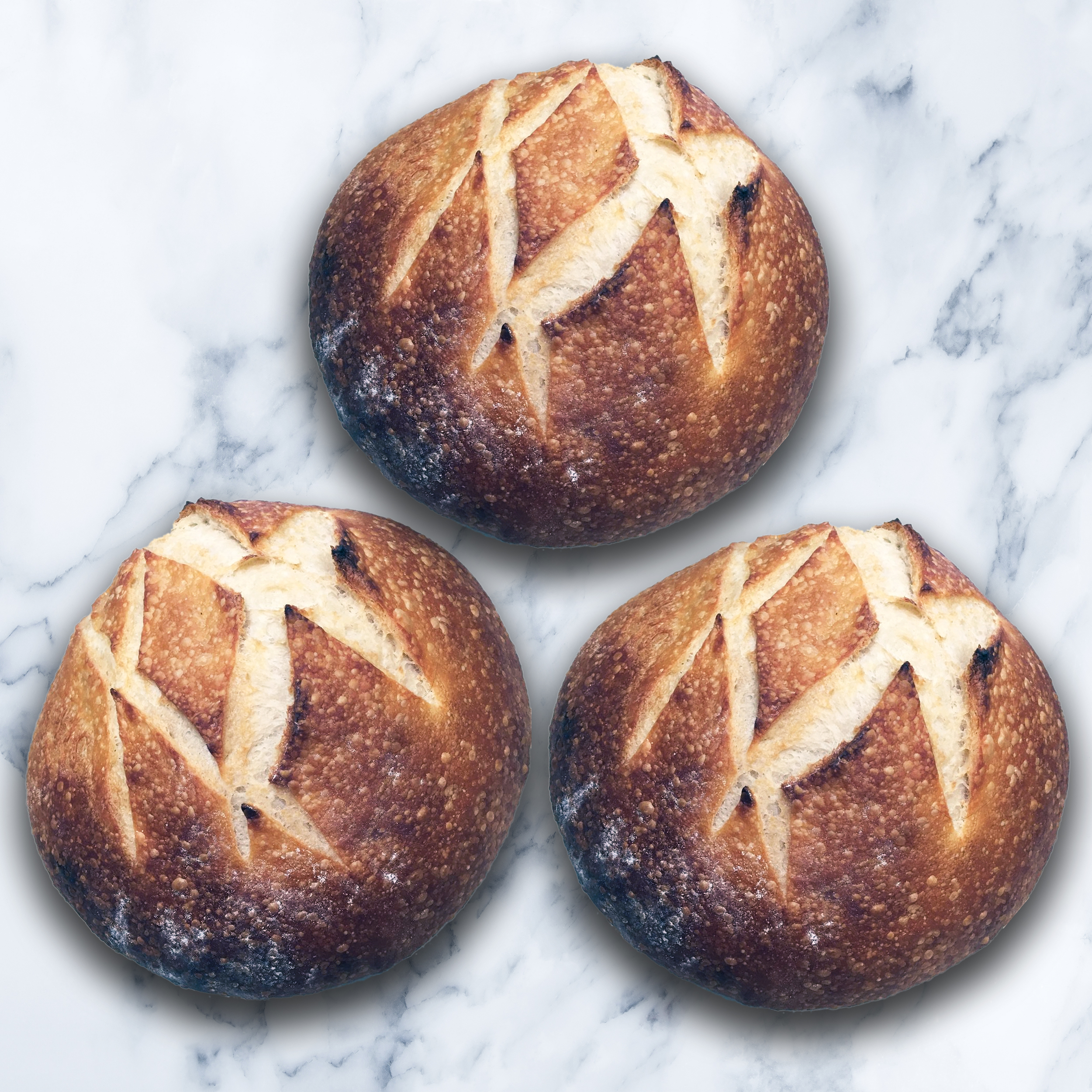 3 FRENCH BREAD LARGE BOULES