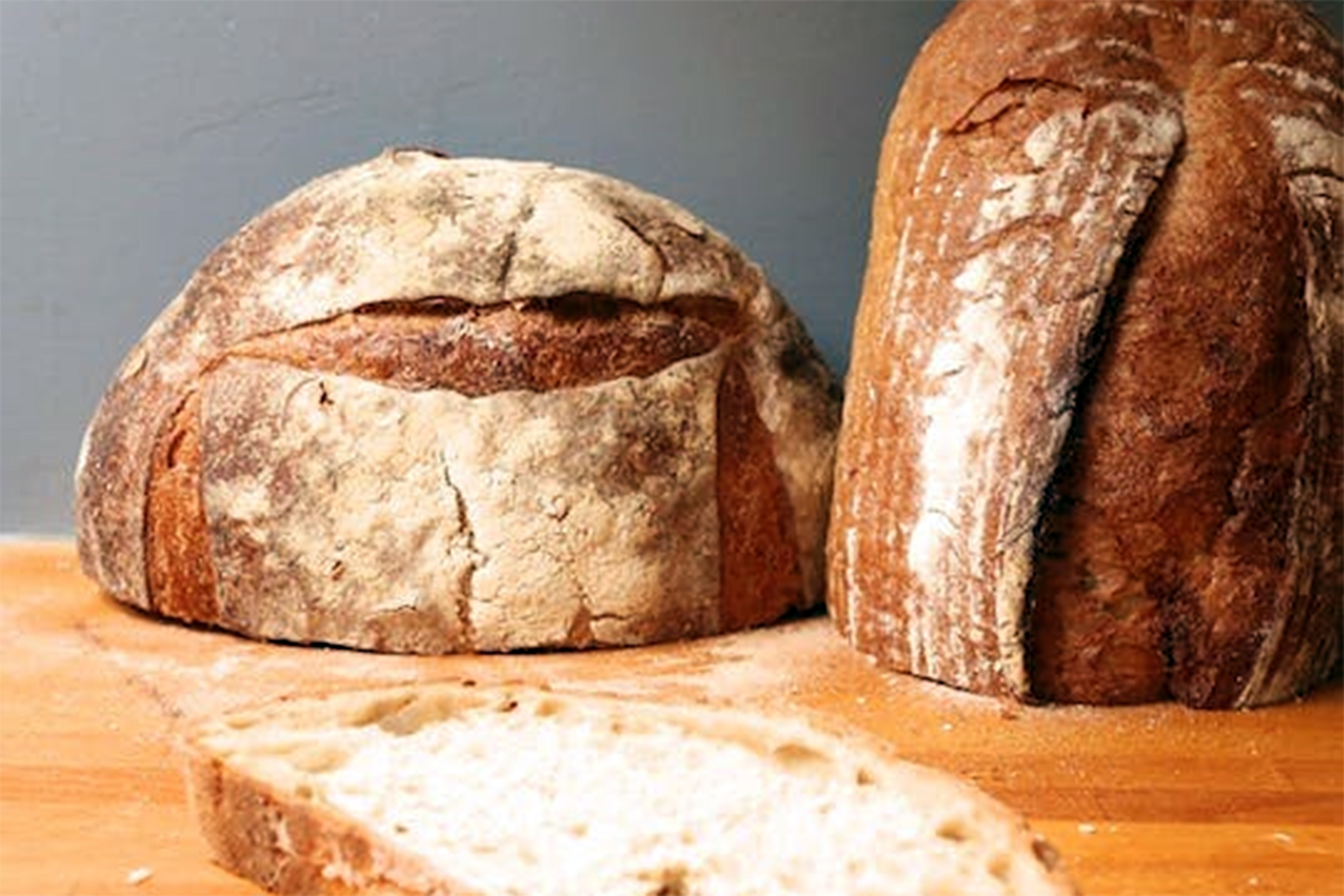 THE PROPER WAY TO STORE BREAD:Slice off just the portion you plan to eat, and invert the exposed end on a table or cutting board. -