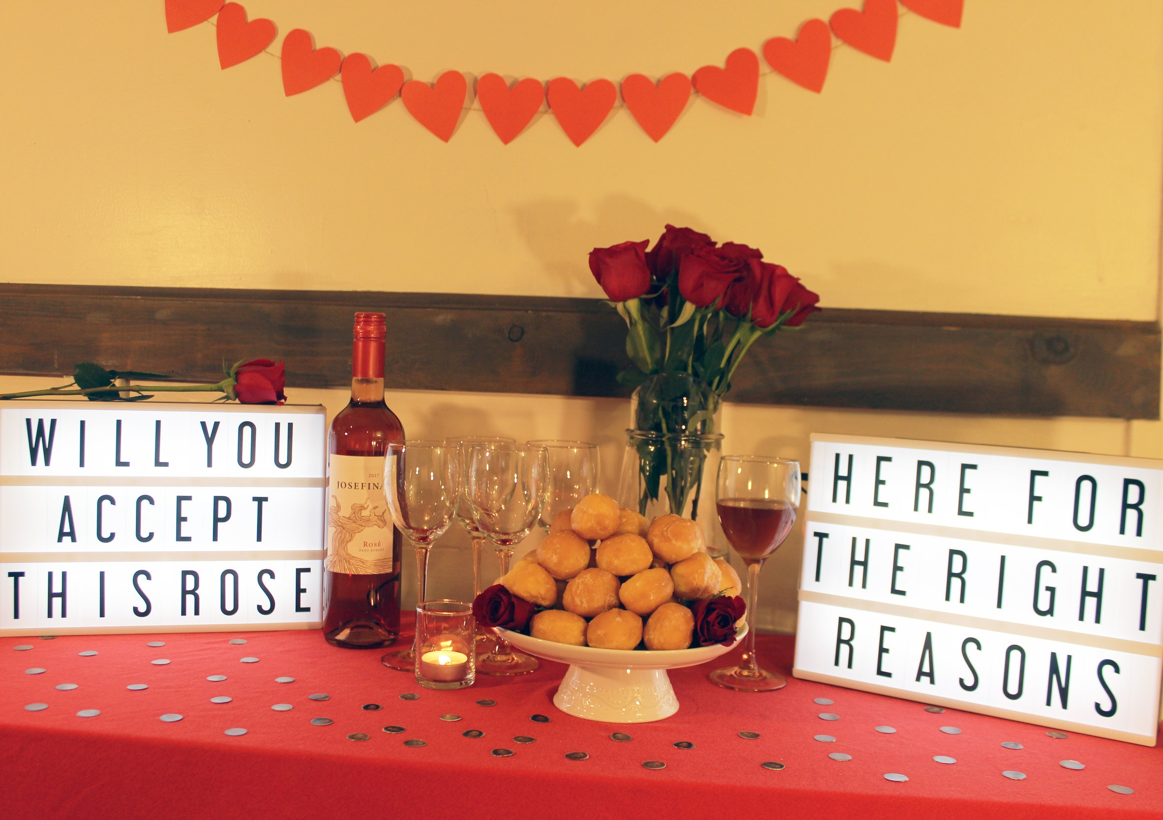 Don't forget to provide your guests with rosé and some fantasy sweets!