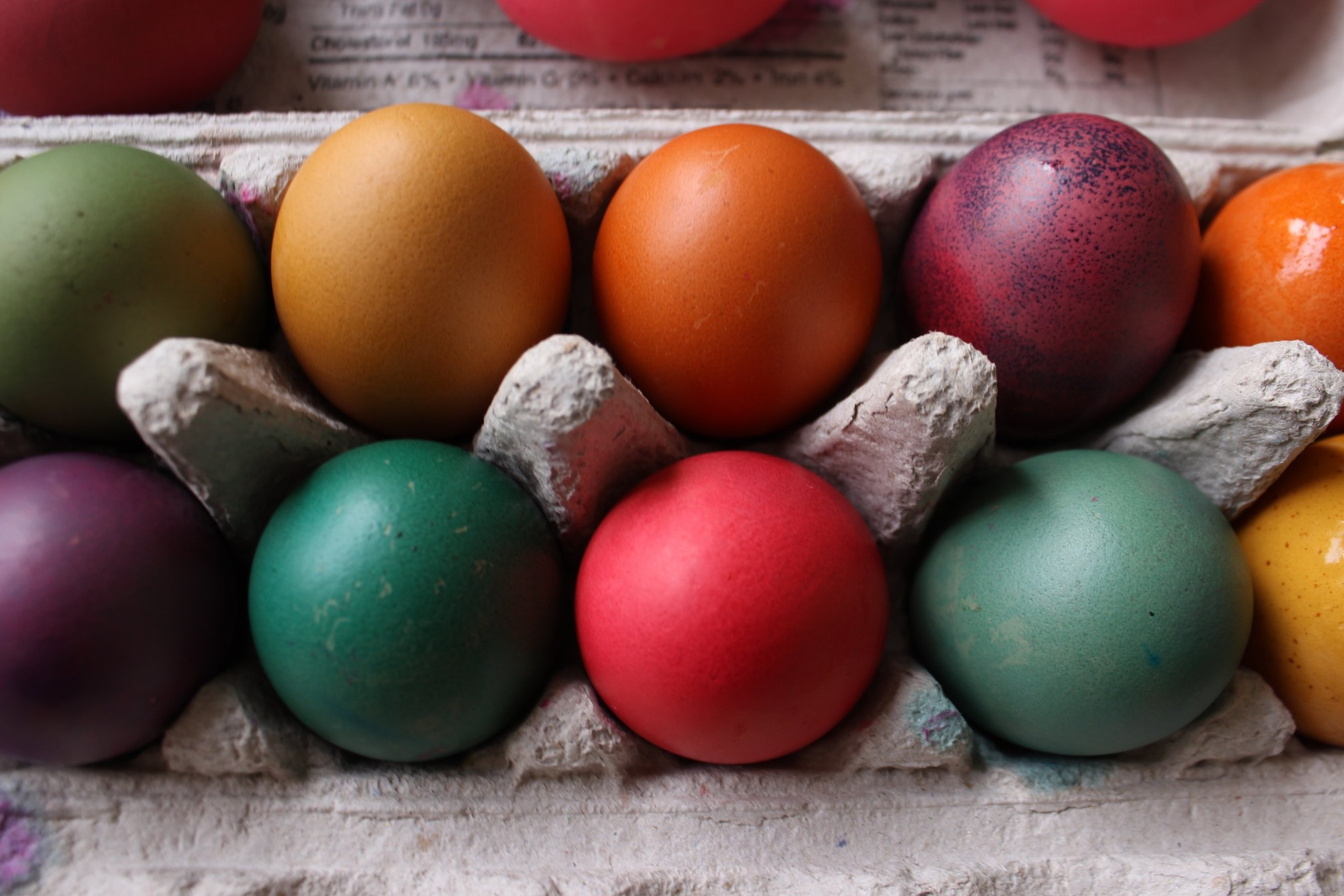 The dye variations and imperfections of each egg adds to the charm!