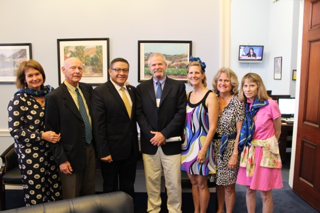 Local NAMI members meet with Rep. Carbajal in his D.C. office during 2017 NAMI Convention