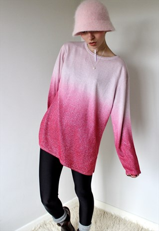 Glittery pink ombre sweater @ ASOS Marketplace