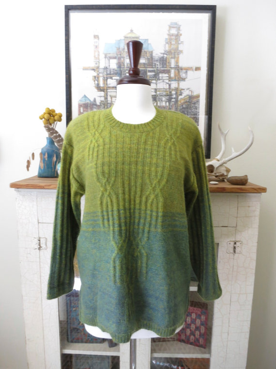 1980s Ombre Sweater @ Etsy