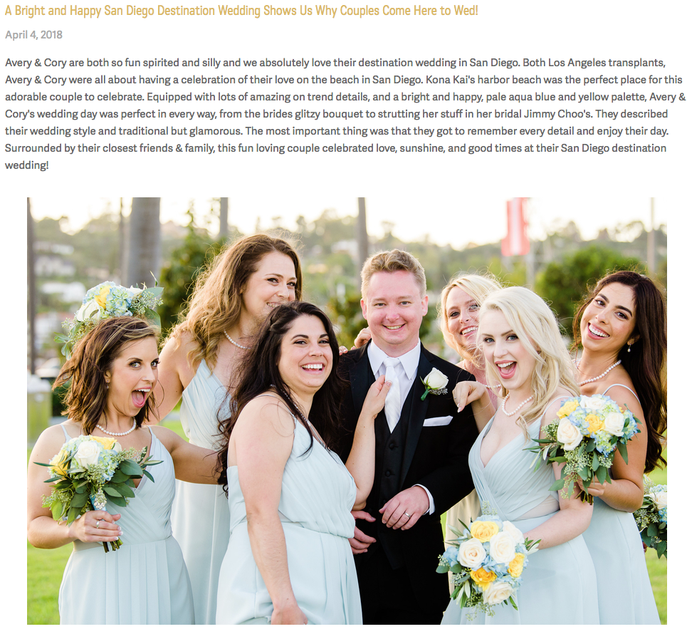 San Diego Wedding Blog  (Avery + Cory)