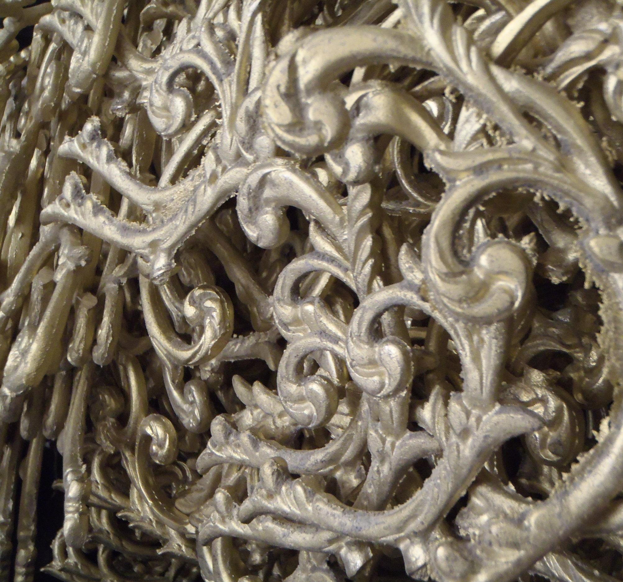 Brass cast chandelier parts