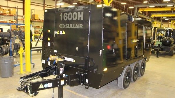 Sullair's 1,000th remanufactured compressor will be presented to Energy Rentals Solutions Caterpillar.