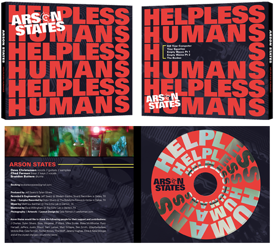 CD Packaging: Front, Back, Inside, Disc