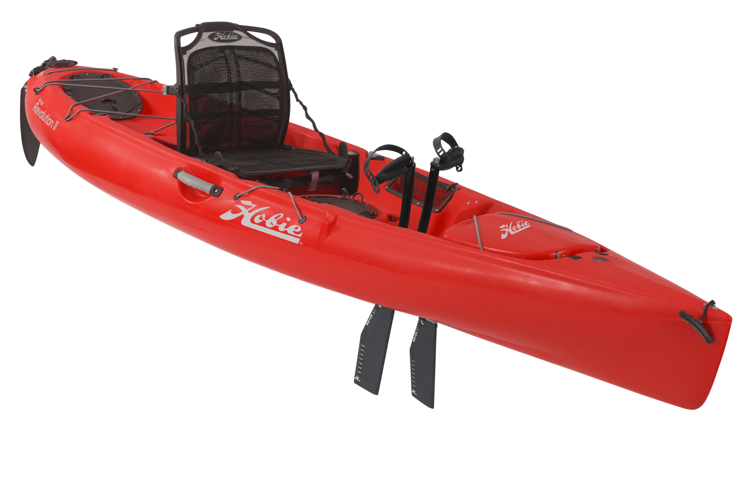 """Mirage Revolution 11   The sleek """"Revo 11"""" is lightning fast off the line, a MirageDrive powered pocket rocket that'll turn in its own length. Performance in a tidy 11-ft. package, easy to transport and store."""