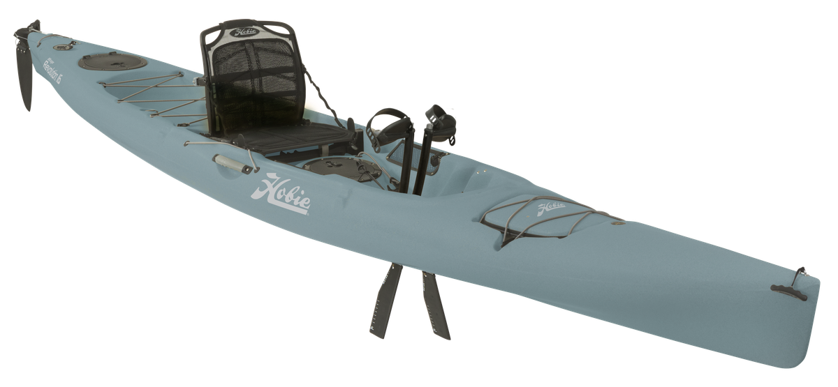 Mirage Revolution 16   Sleek. The Hobie Mirage Revolution 16 boasts a long, lean hull that's low on drag and big on speed, allowing you to glide along at a pace typically reserved for far more fragile kayaks.