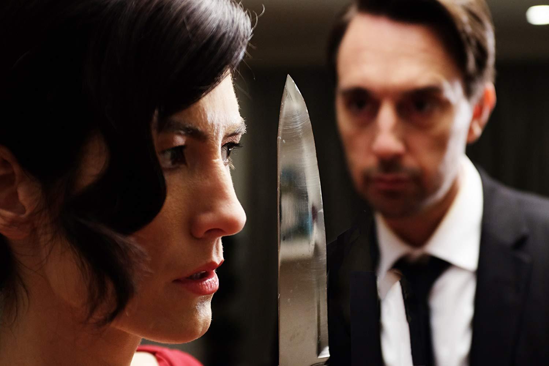 Jessica Graham and Christopher Soren Kelly in Murder Made Easy.jpg