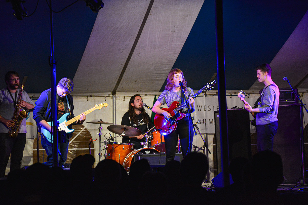 We got the Megan Nash 6-Piece Chicken Nugget Meal Band back together for the Firelight Festival in Swift Current. Photo courtesy of Western Canada Summer Games.