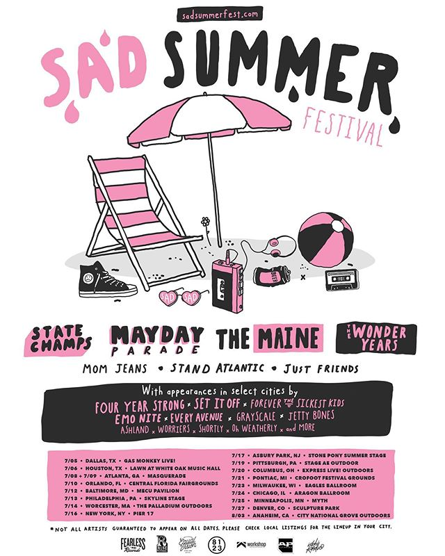 Looks like we are going to be sad for a couple dates this summer 😢 Let us know what songs you wanna hear 😉 🎫 tickets available now at  sadsummerfest.com. Exact dates announced on Thursday 🖤👄