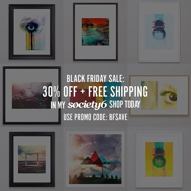 11/22-11/23: Black Friday Sale: 30% Off + Free Shipping on Everything with Code BFSAVE  Start: Thursday, 11/22/2018 @ 12:00am PT  End: Friday, 11/23/2018 @ 11:59pm PT #society6 #d150r13ntat10n #semperintrospiciens #🖤💀
