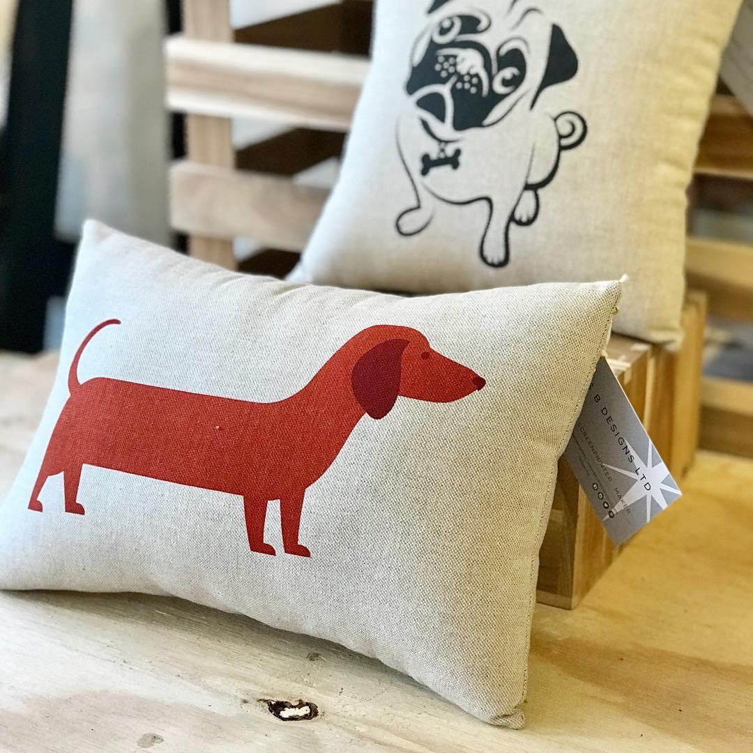 Dachshund cushion  by Mrs B Designs