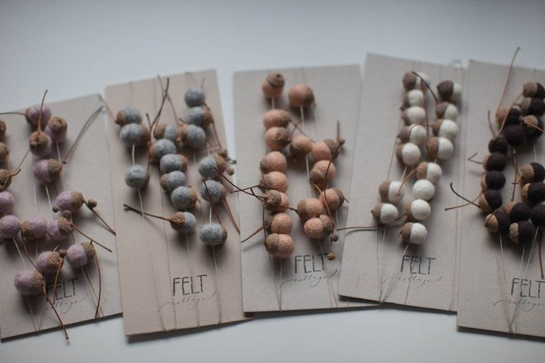 Woodland garlands by Felt Collage. Available  here .