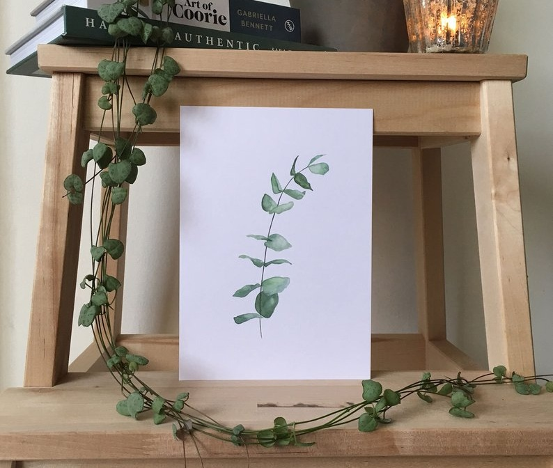 Eucalyptus print by Silver Quill Co. Available  here .