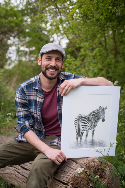 Gareth with his Zebra. Prints also available in his shop  here .