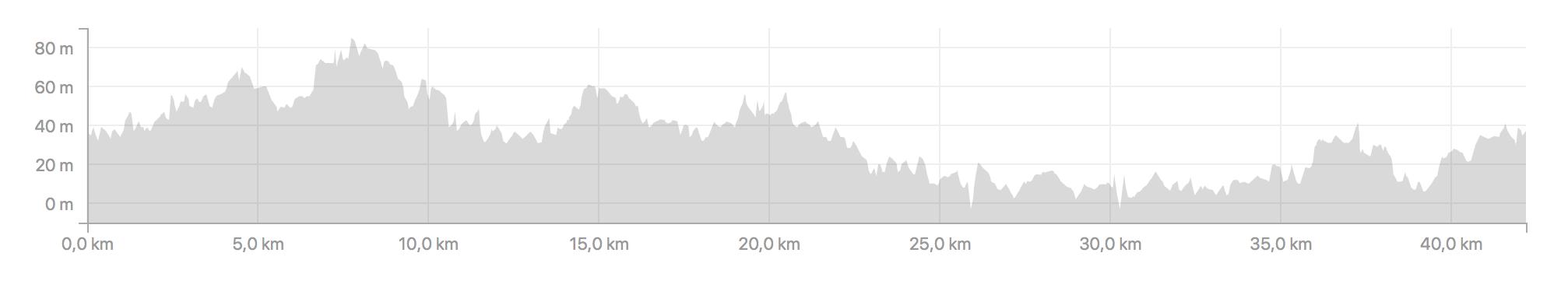 Profile of the Barcelona Marathon