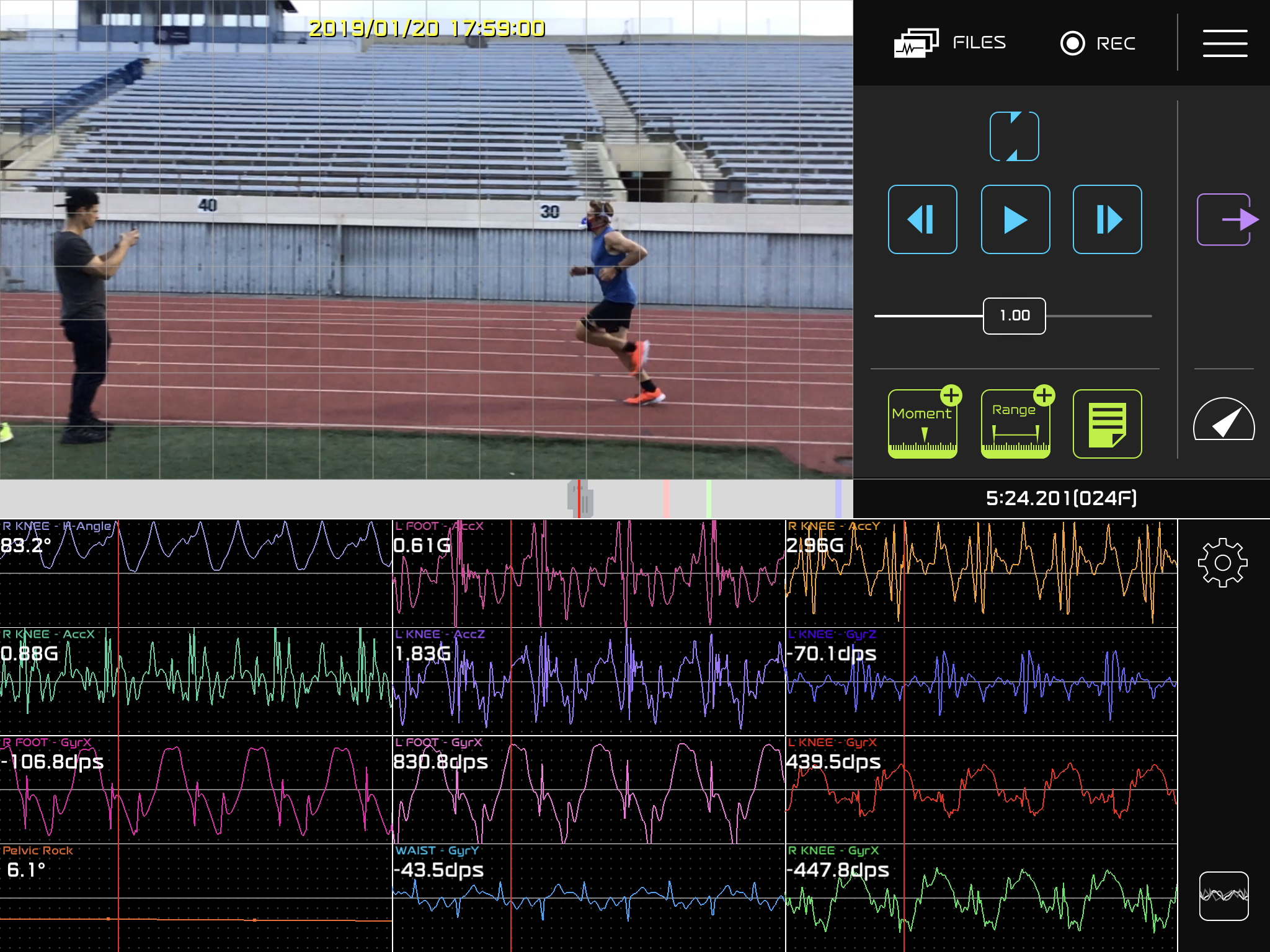 Analysing running technique using the  LEOMO LVS System