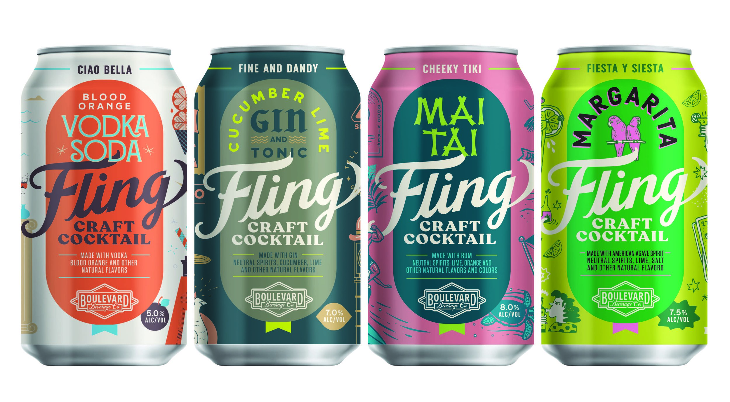 Boulevard Brewing is behind the Fling brand of canned cocktails.
