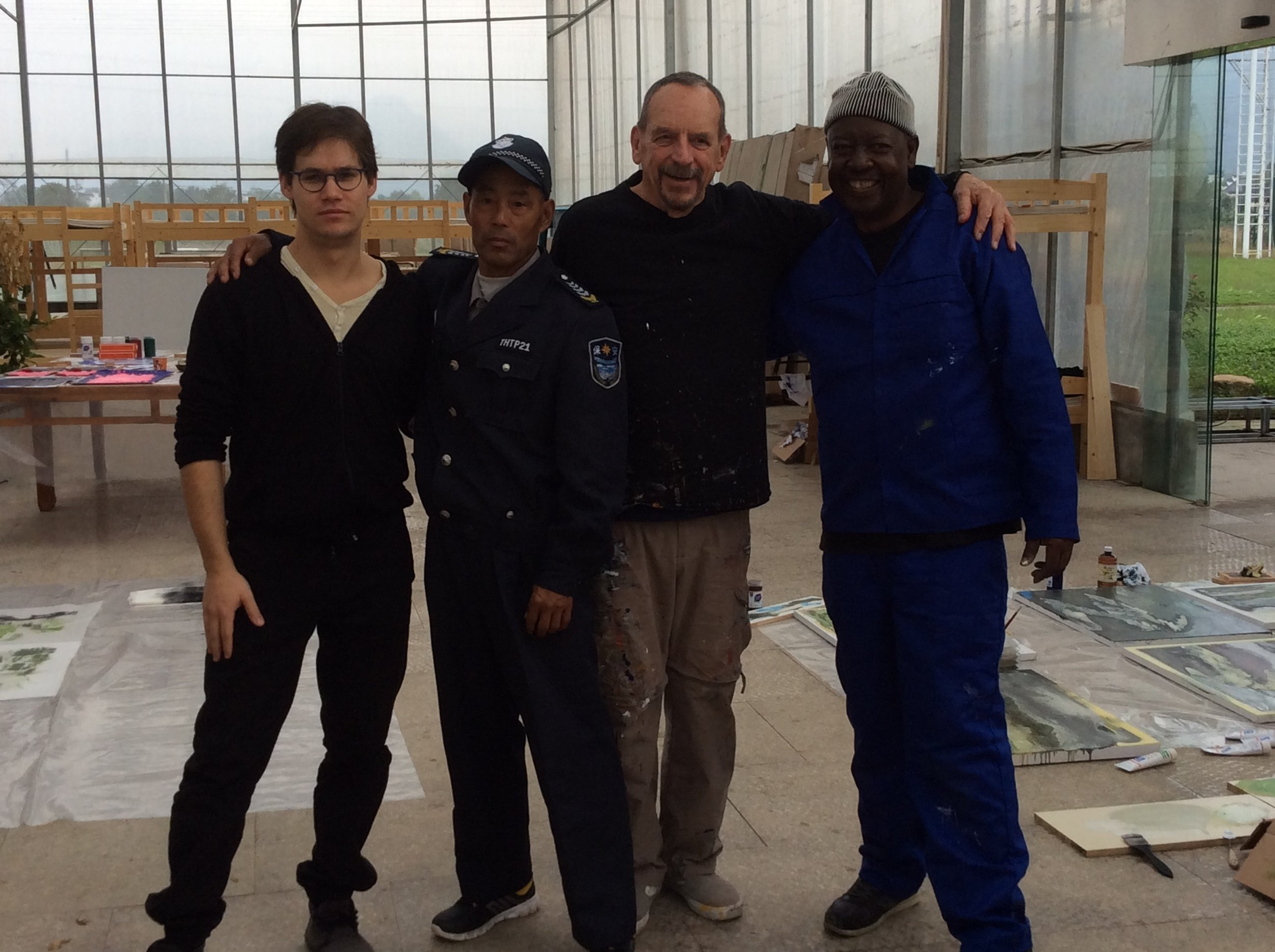 Robert Scott with fellow artists attending the residency program.
