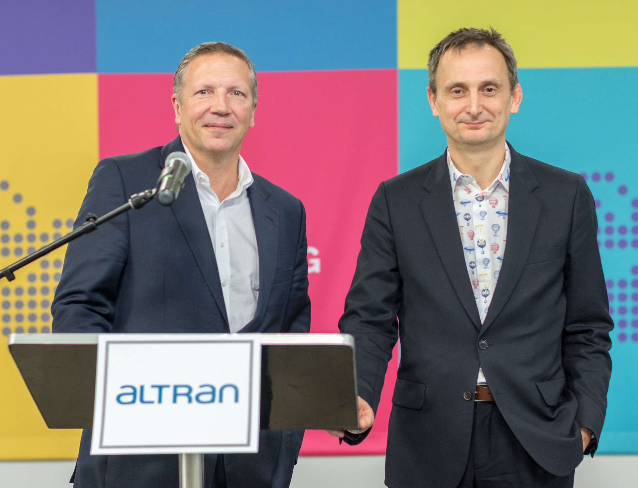 Rob Vatter and Keith Williams at the Altan Grand Opening