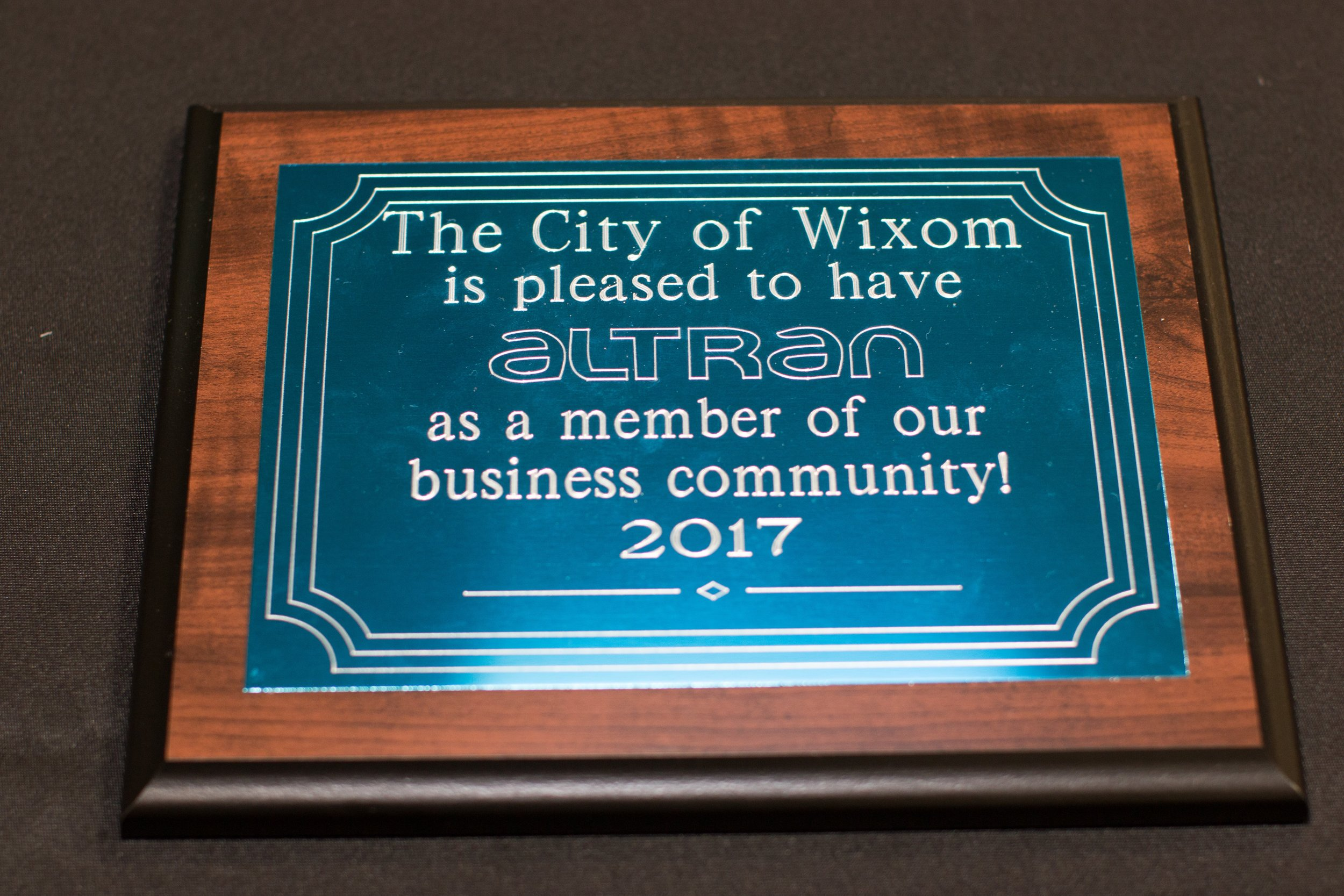 Welcome to Wixom Plaque