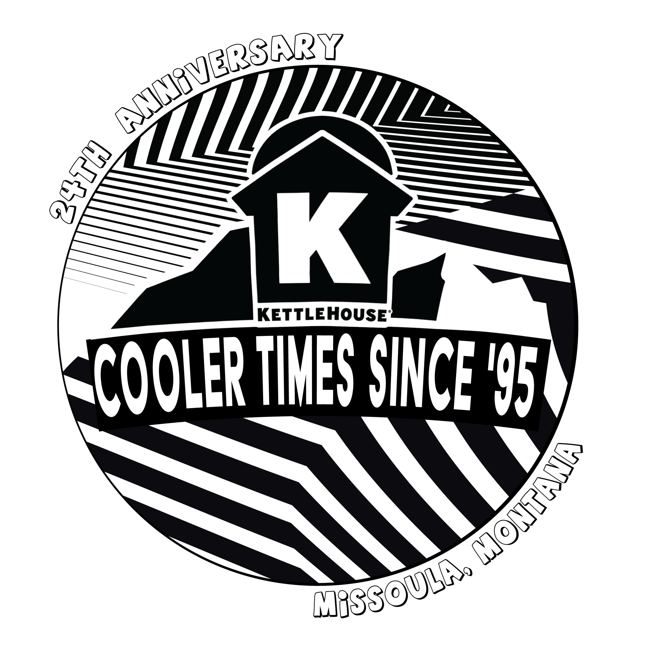 T-Shirt Design for Kettlehouse's 24th anniversary party. 90's theme.