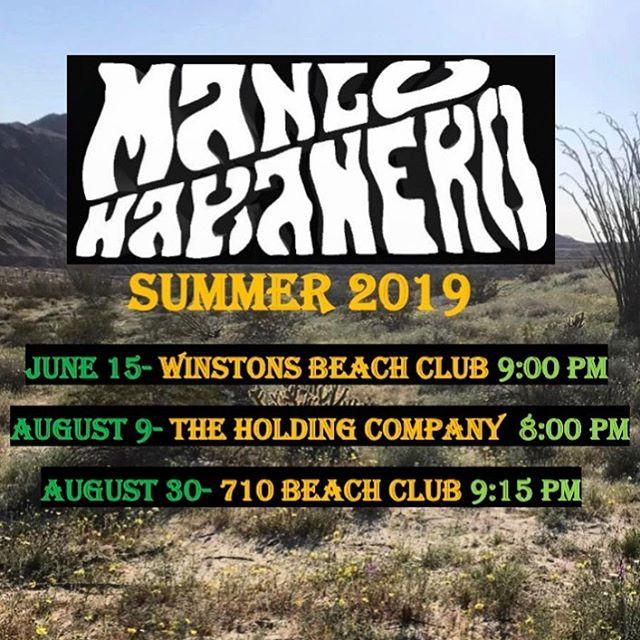 We hope to see you at one of our shows this summer! Next gig: Saturday JUNE 15th at @winstonsob ! Doors open @ 9 pm 🤘🏻☀️🎸🎺🥁 . . . #mangohabaneromusic #mangohabanero #livemusic #sandiego #california #oceanbeach #winstonsob #thcob #thc1502 #pacificbeach #710beach club @710beachclub @thc1502 #listenlocalsd #sandiegomusic #reggae #rock #socal #socalreggae #funk #original #fun