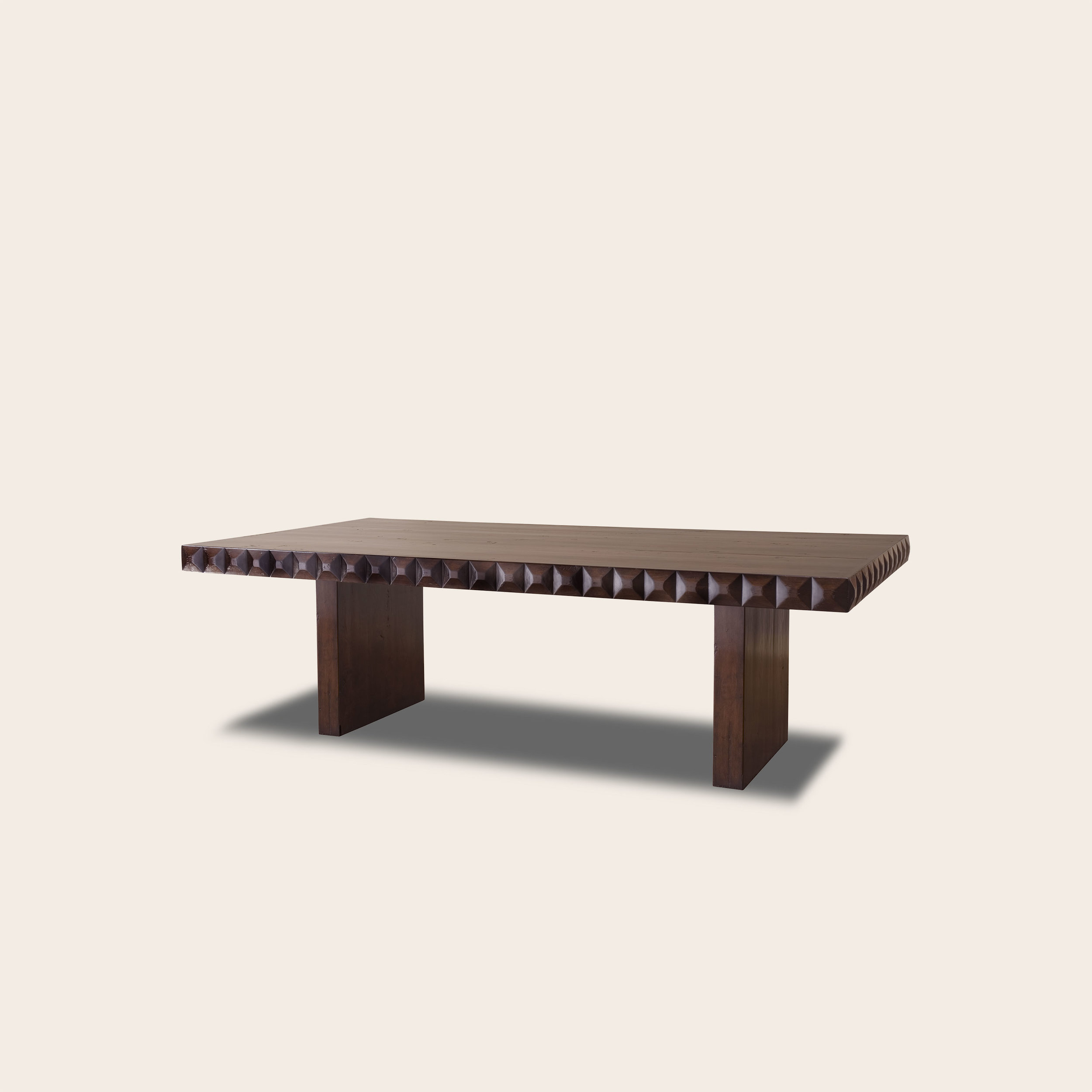 Maximino Dining Table with Slab Panel Base