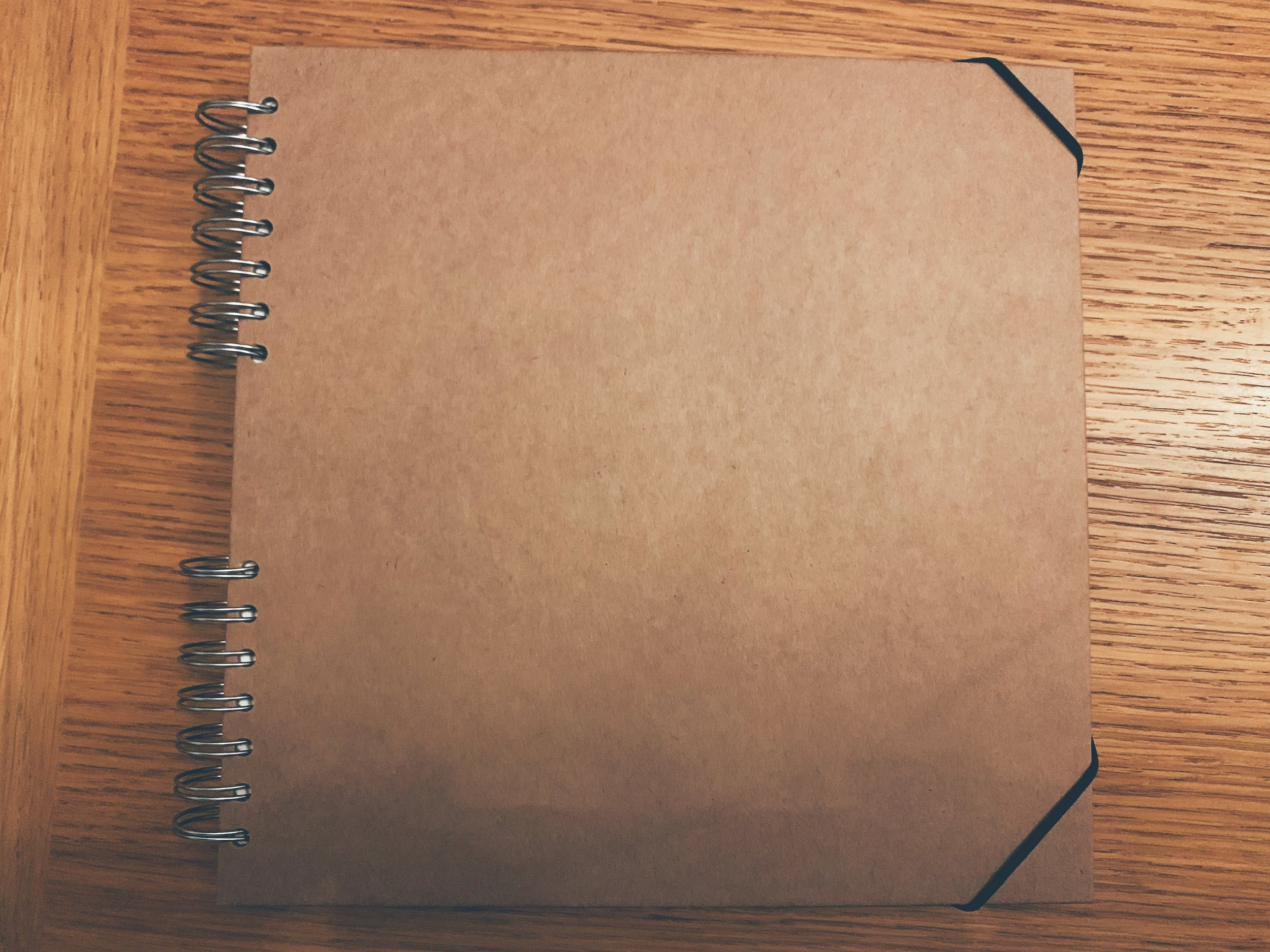Fresh, untouched scrapbook…THE DREAM.