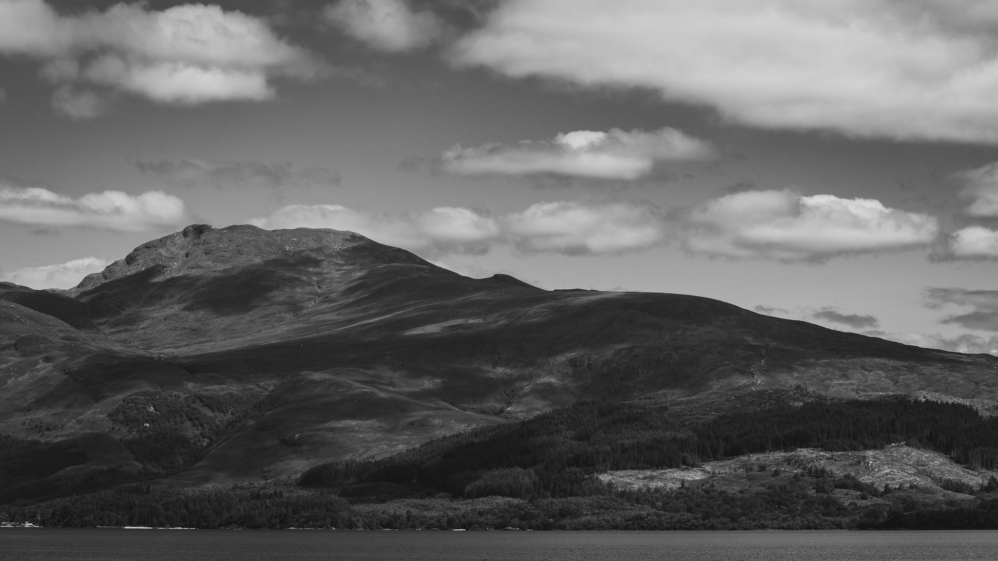 Ben Lomond from the shore of Loch Lomond.
