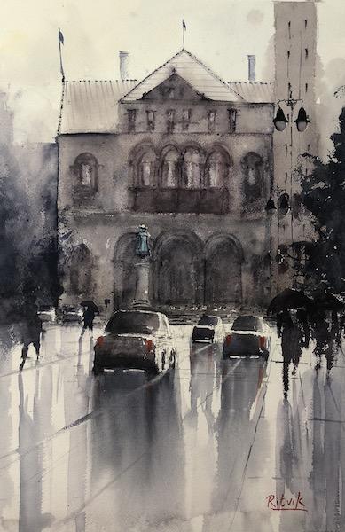 Raining By City Hall [SOLD]