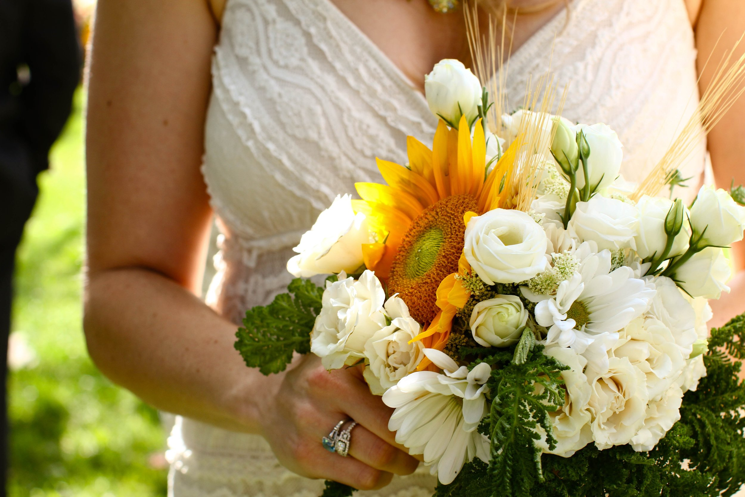 My own bridal bouquet! Perfection for an outdoor summer wedding in Kansas.