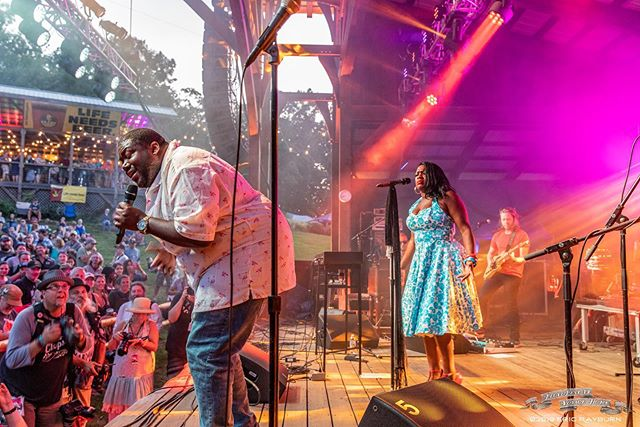 The War and Treaty commanding the stage during FloydFest 19 #thewarandtreaty #floydfest #alltheshots . . . #soul #passion #livemusicphotography #color #stage #lights #musician #singer #emotion #musicmagicmountains #virginiaisformusiclovers #ericrayburnphotography @thewarandtreaty @floydfestva @rollingstone