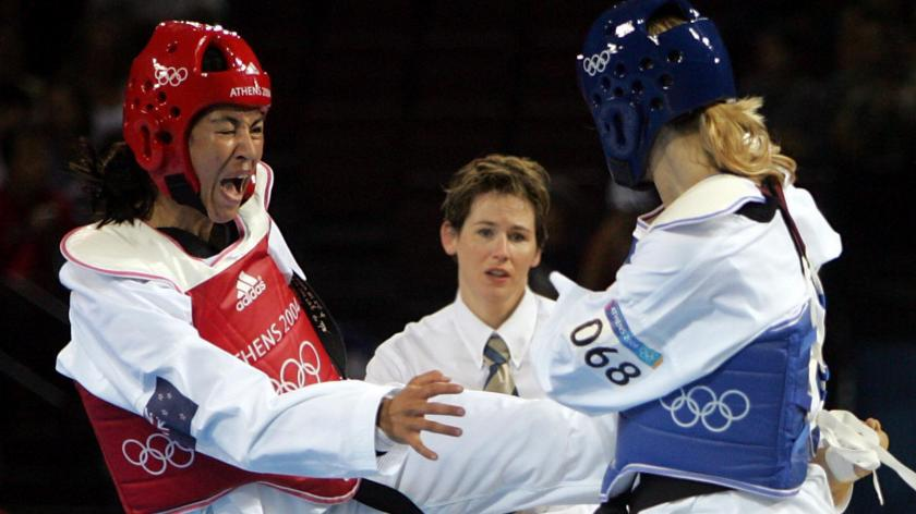 Verina was our first Olympic Taekwondo athlete and competed in the 2004 Athens Games. -