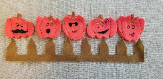 Our Felt Finger Puppets Buy Here:  5 'Lil Hipster Pumpkins