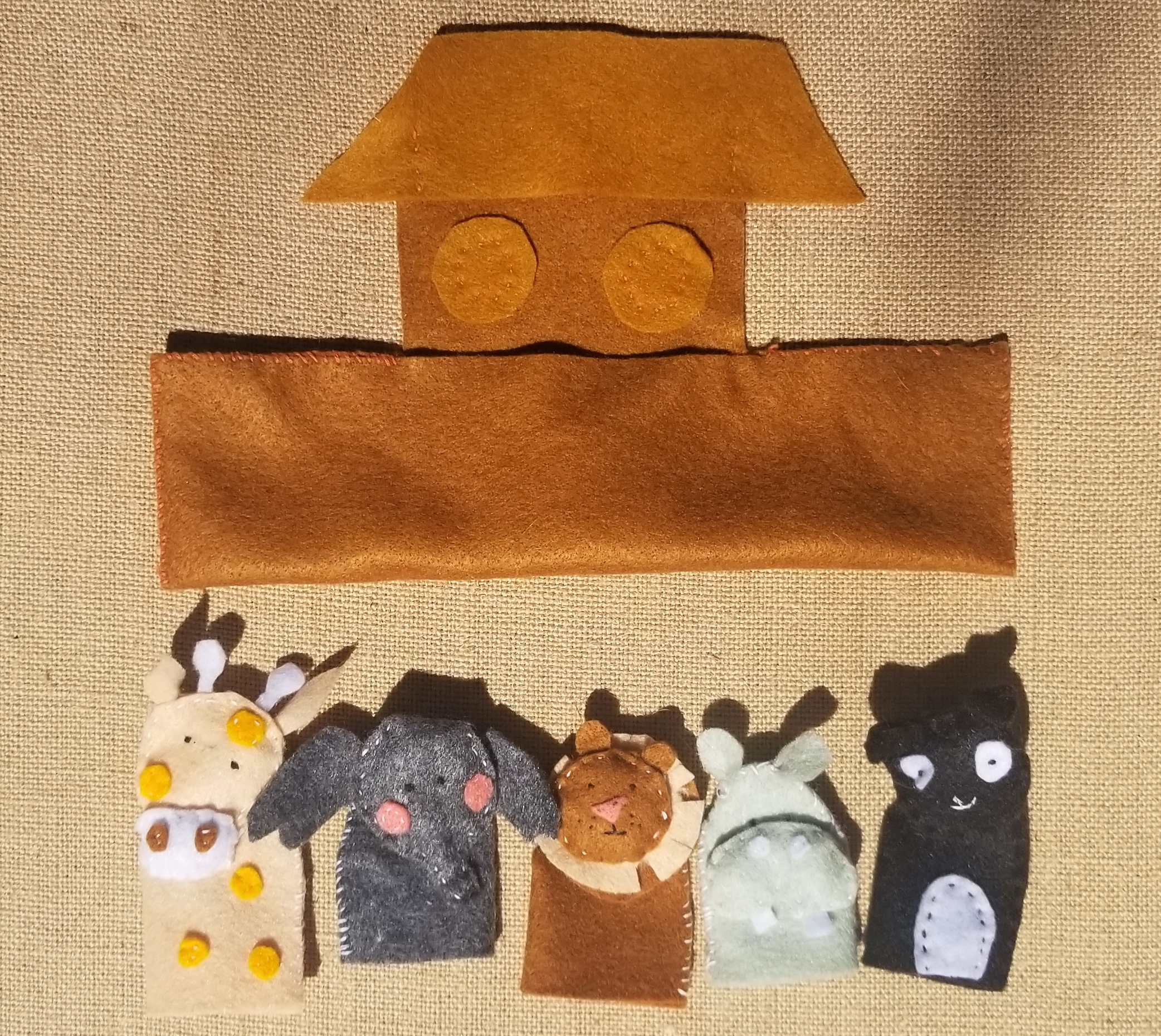 Our Felt Finger Puppets Buy Here:  Ahoy Animals!