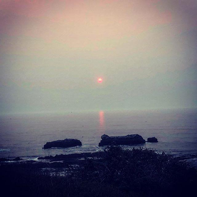 Trippy sunset in Halfmoon Bay.