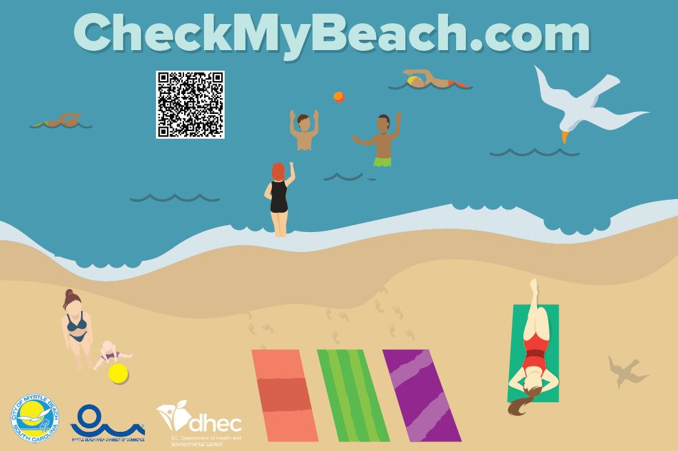 """Check My Beach"" signs have been installed at some beach access points during pilot program."