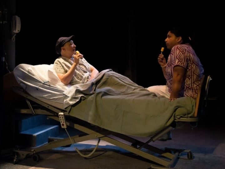 WIT  The Hypocrites   Pictured: (l-r) Lisa Tejero and Adithi Chandrashekar. Photo by Joe Mazza.