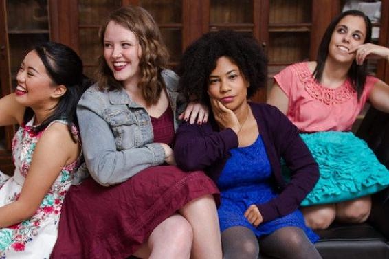WOMEN  Cuckoo's Theater Project   (l-r) Francesca Atian, Emily Lindberg, Aziza Macklin, and Jillian Leff. Photo by Candice Lee Connor.