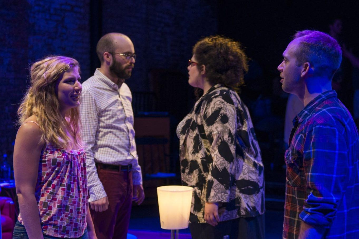 TOMORROW MORNING  Kokandy Productions   (left to right) Tina Naponelli, Carl Herzog, Teressa LaGamba and Neil Stratman (Photo by Michael Brosilow)