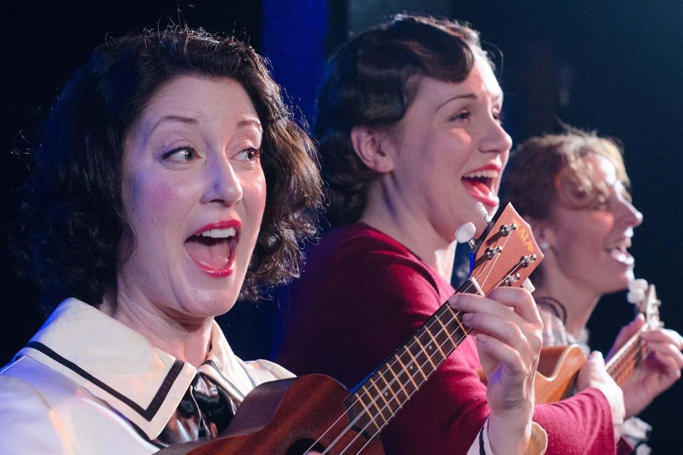 ONCE IN A LIFETIME  Strawdog   (L to R) Sarah Goeden, Justine C Turner, Nicole Bloomsmith. Photo: Tom McGrath.