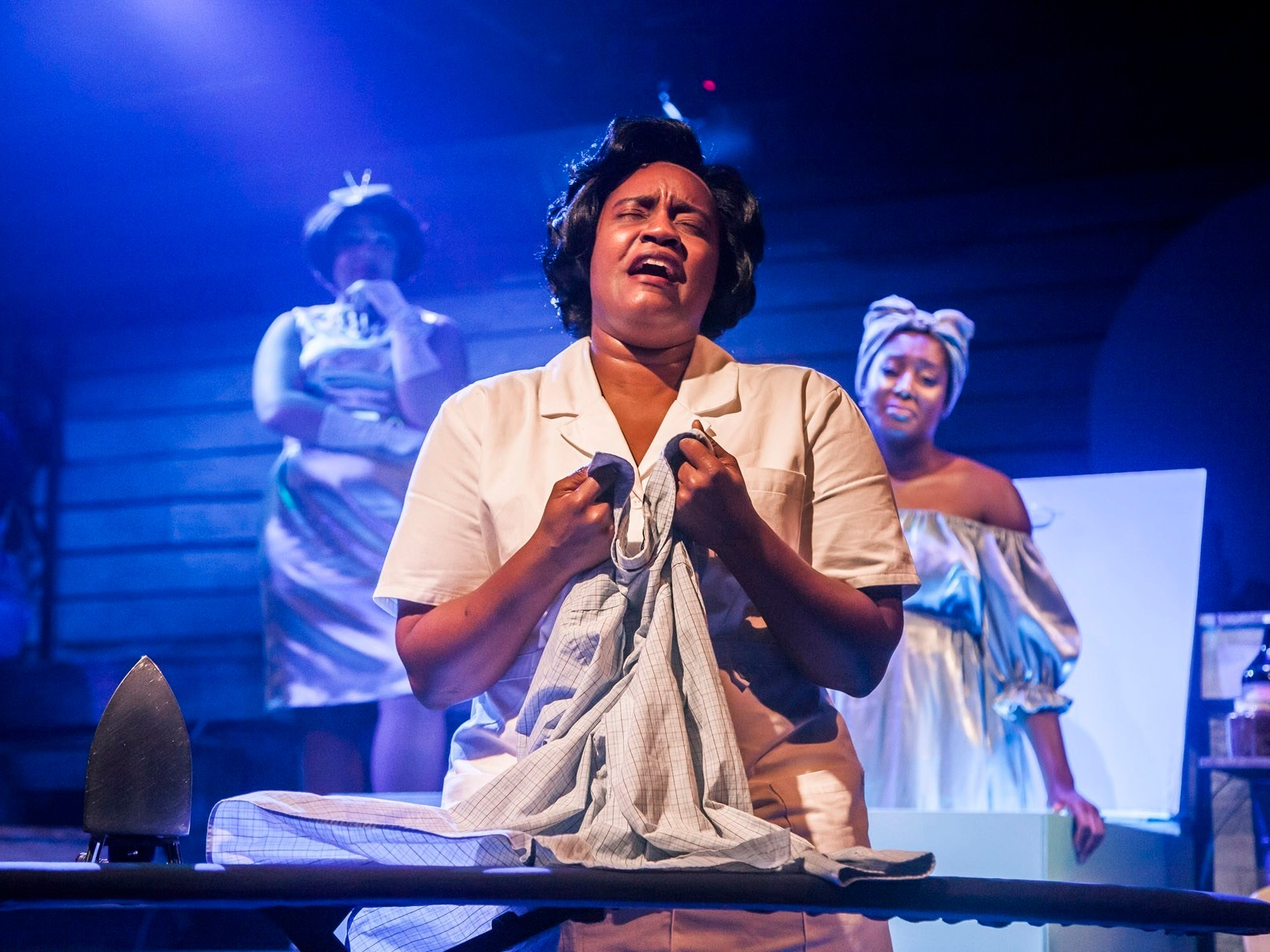 CAROLINE OR CHANGE  Firebrand Theatre   Rashada Dawan (front) with Emma Sipora Tyler and Tyler Symone/Photo: Marisa KM