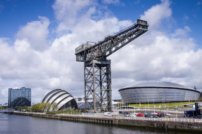 La moderna ciudad de Glasgow. Foto de Visit Scotland.