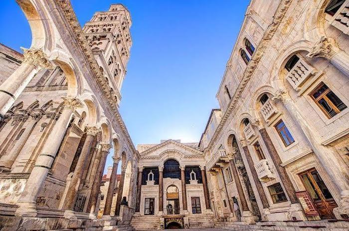 El Palacio Diocleciano en Split Croacia