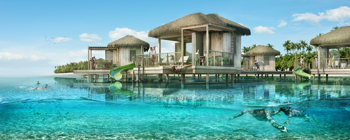 Cabaña sobre el agua en CocoCay de Royal Caribbean