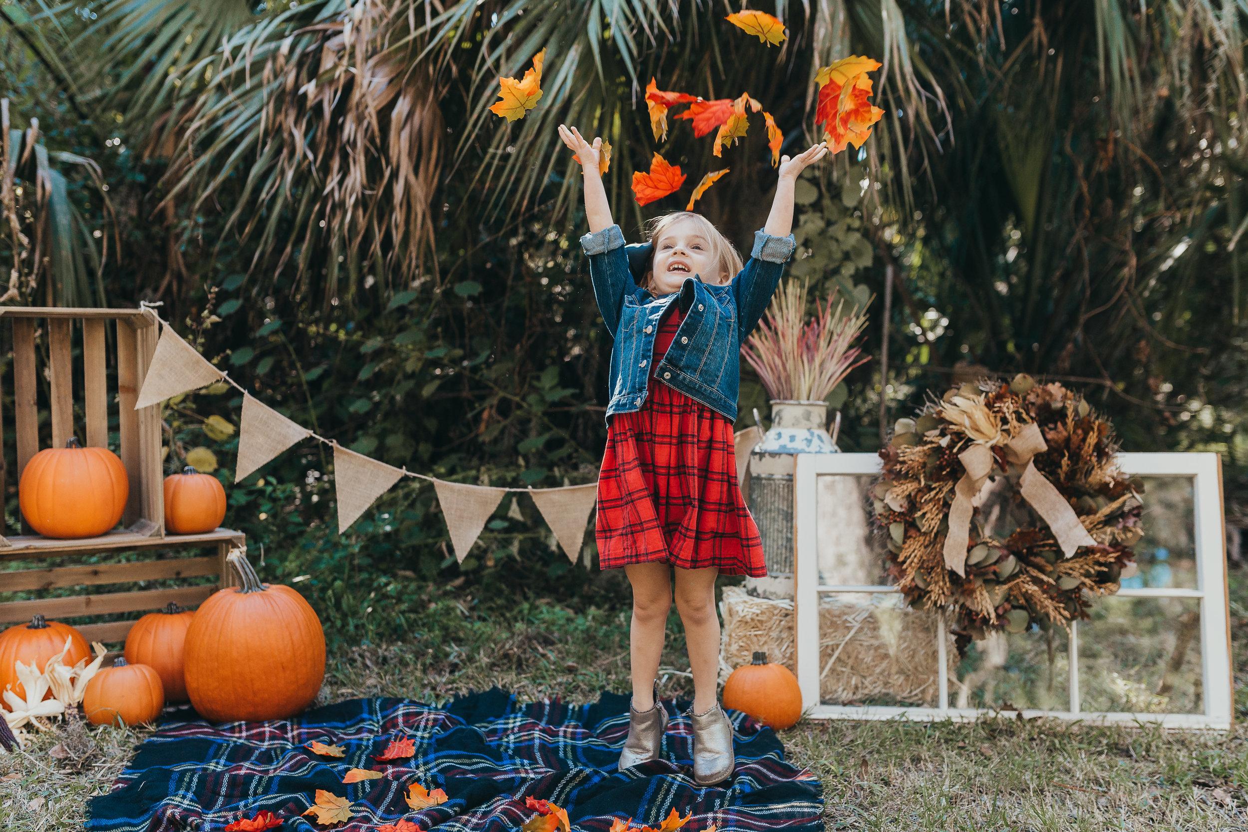 Fall mini sessions from Orlando, Daytona Beach, Deland Photographer