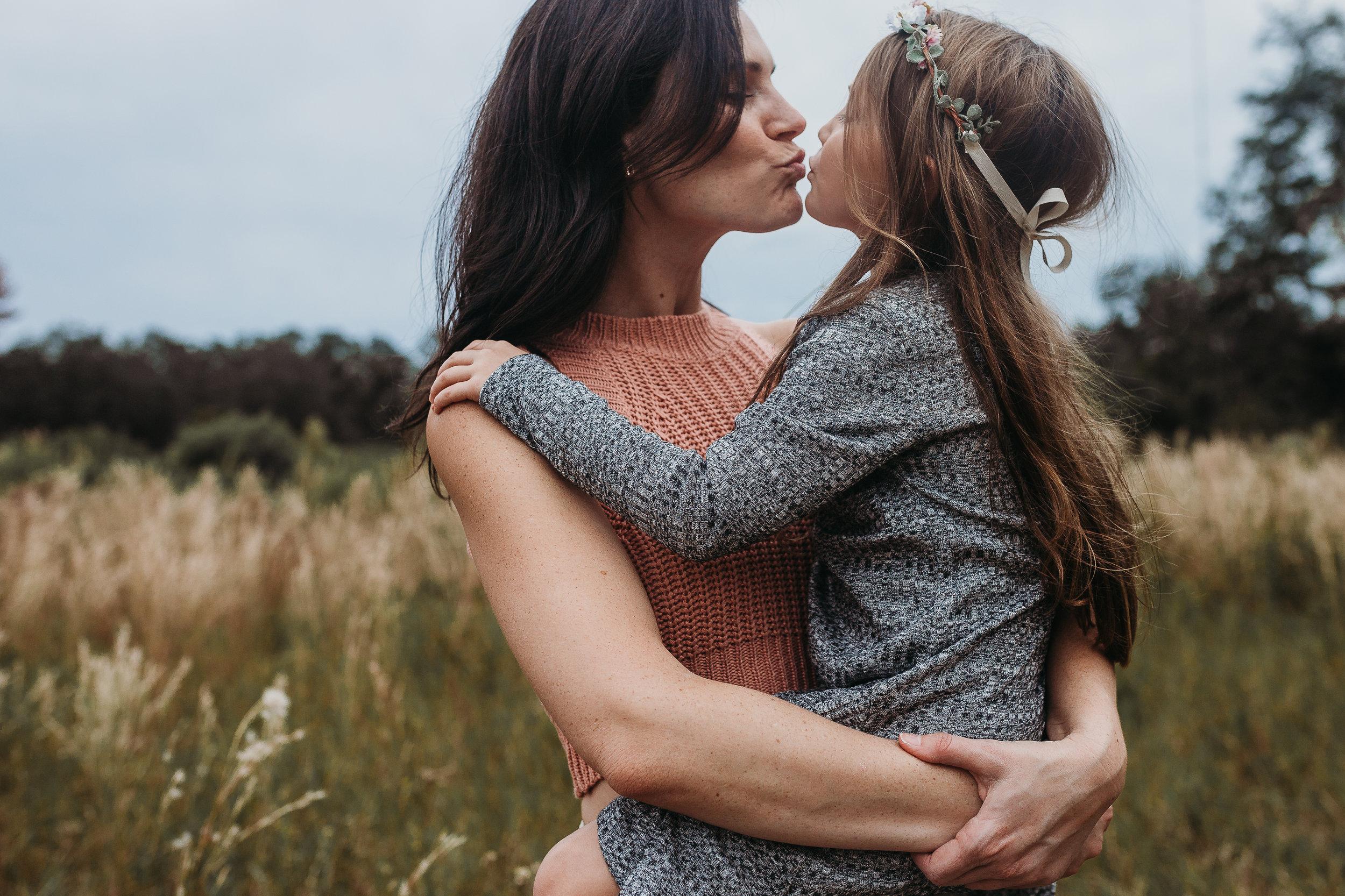 Deland Florida Family Photographer with boho field photoshoot